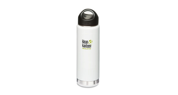 Klean Kanteen Wide Insulated Termoflaske med Loop Cap 592ml hvid